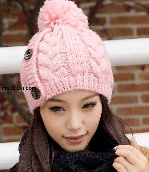 Какие вязаные шапки в моде