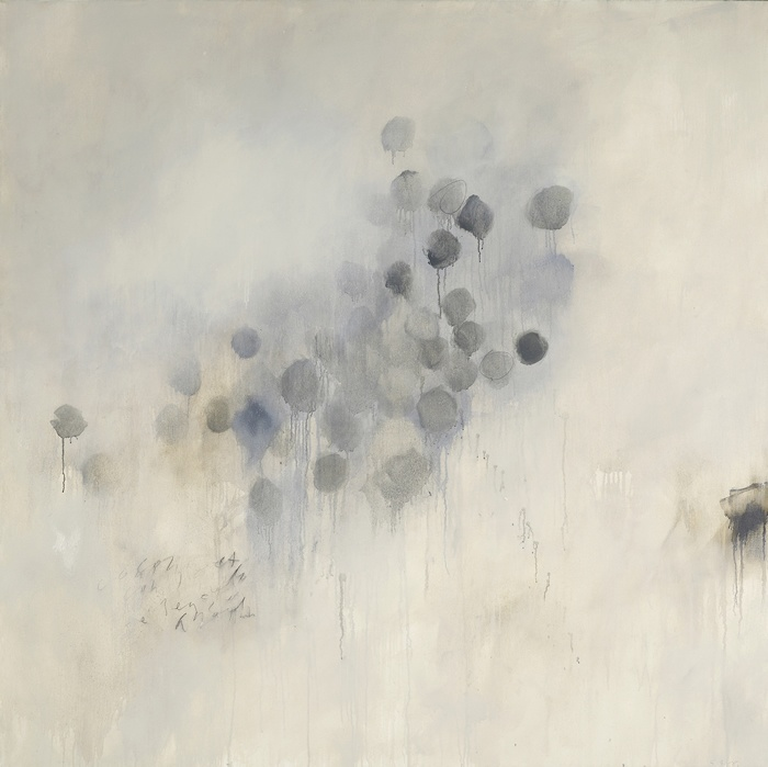 Steven Seinberg, Released. Oil and graphite on canvas, 61 x 61