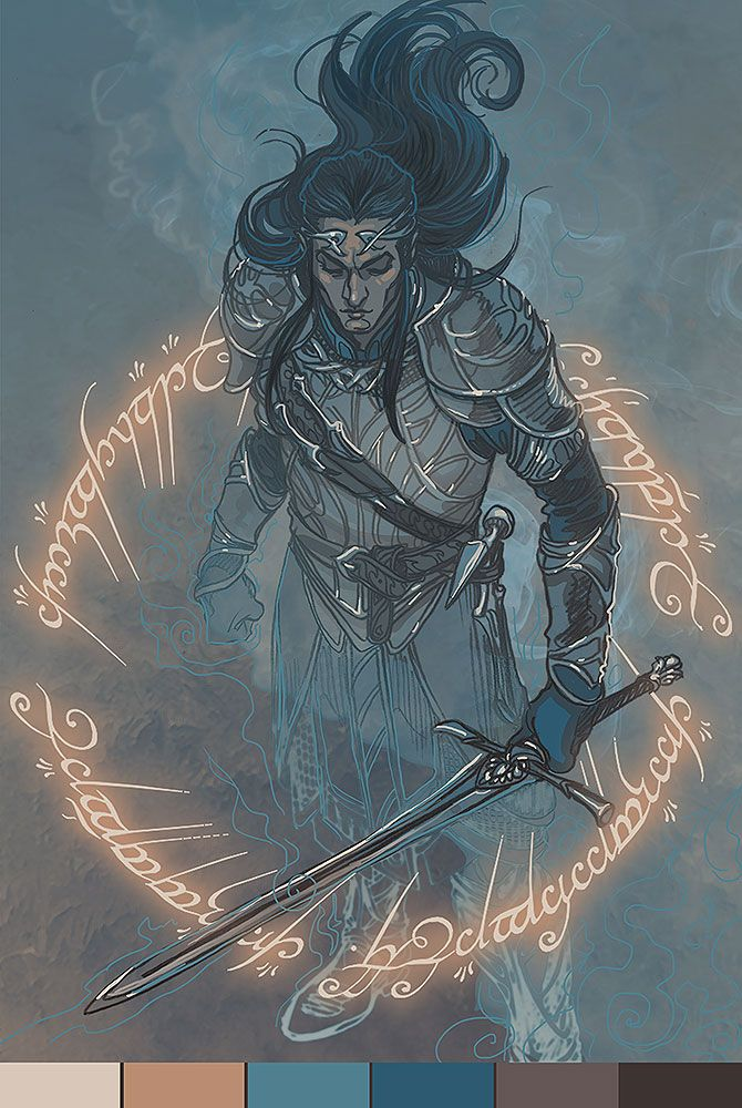 Celebrimbor from The Shadows of Mordor [and the Silmarillion] for @silverblue-stag Palette #10
