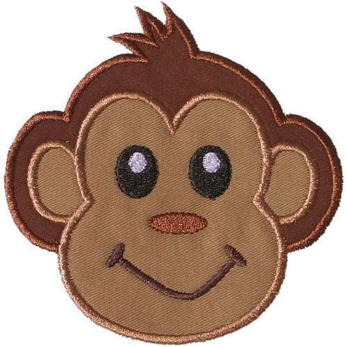 Hey, I found this really awesome Etsy listing at https://www.etsy.com/listing/169512322/monkey-face-applique-machine-embroidery