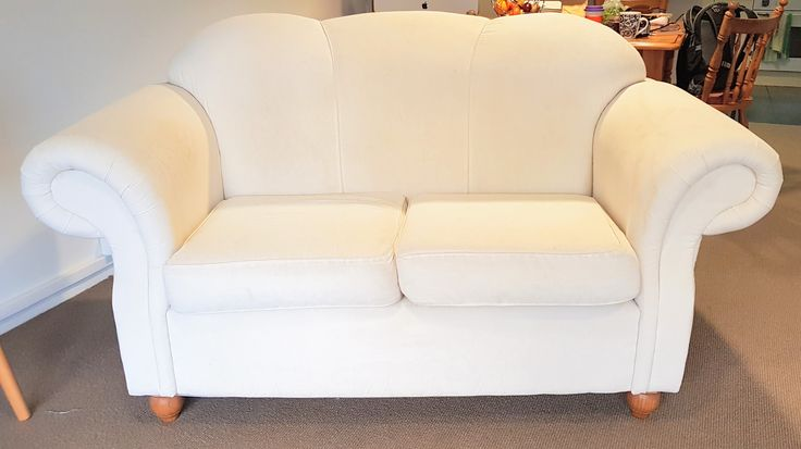 Pair of white 2 seater couches $320 Great condition. Buyer must pick up!