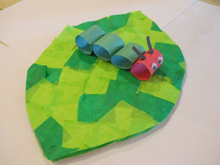 The kids in Mrs. T's First Grade Class enjoyed making this papier-maché leaf and caterpillar creation, and yours will too! Source: Mrs. T's First Grade Class