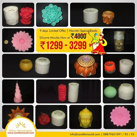 Greatest Sale - Great Deals Across 40+ Categories  Visit Us: www.candlemould.com  Click here: http://www.candlemould.com/index.php?id_category=43&controller=category  #Niralindustries #celebrations #Discounts #products #NavratriOffer #SiliconeMoulds #Moulds #BuyNow #Hurry