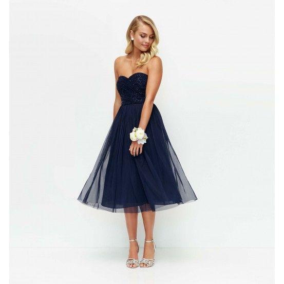 Mary Embellished Tulle Midi Dress