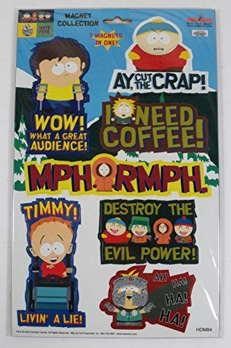 2003 Comedy Central SOUTH PARK Magnet Collection (7 Magnets) Style # HDM84 @ niftywarehouse.com #NiftyWarehouse #Geek #Gifts #Collectibles #Entertainment #Merch