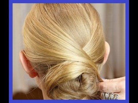 Прическа на средние волосы. Элегантный пучокhttps://www.youtube.com/watch?v=OX-53r9VKh8