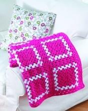 Bright Idea Blanket..... modern take on an old pattern....fun.