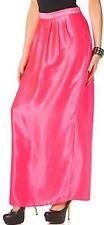 Glänzende Satin Maxirock von Melrose in Neon Pink Größe 32 (237417)