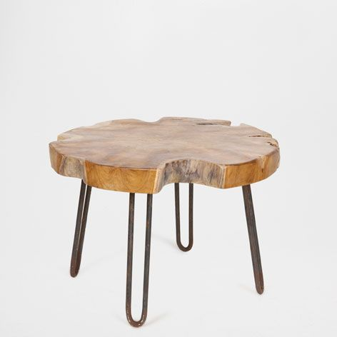 Petite table bois tronc wood tables zara home and furniture for Table zara home