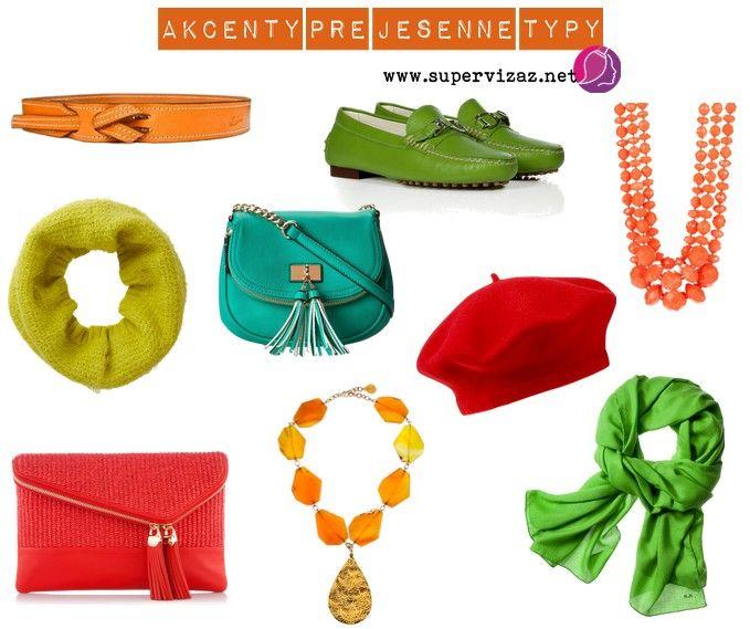 Farby akcentov pre jesenné typy