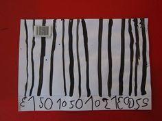 En maternelle, travail sur les traits Les codes barres ... tout un art !