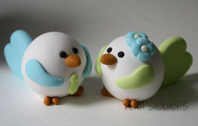 Birdies Wedding Cake Topper by fliepsiebieps1, via Flickr
