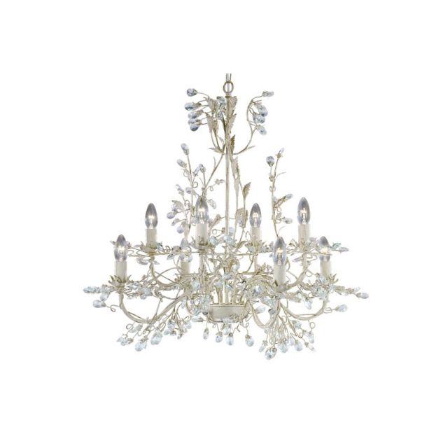 2498-8CR Almandite - 8-ram.luster krémovo-zlatý + krištáľ