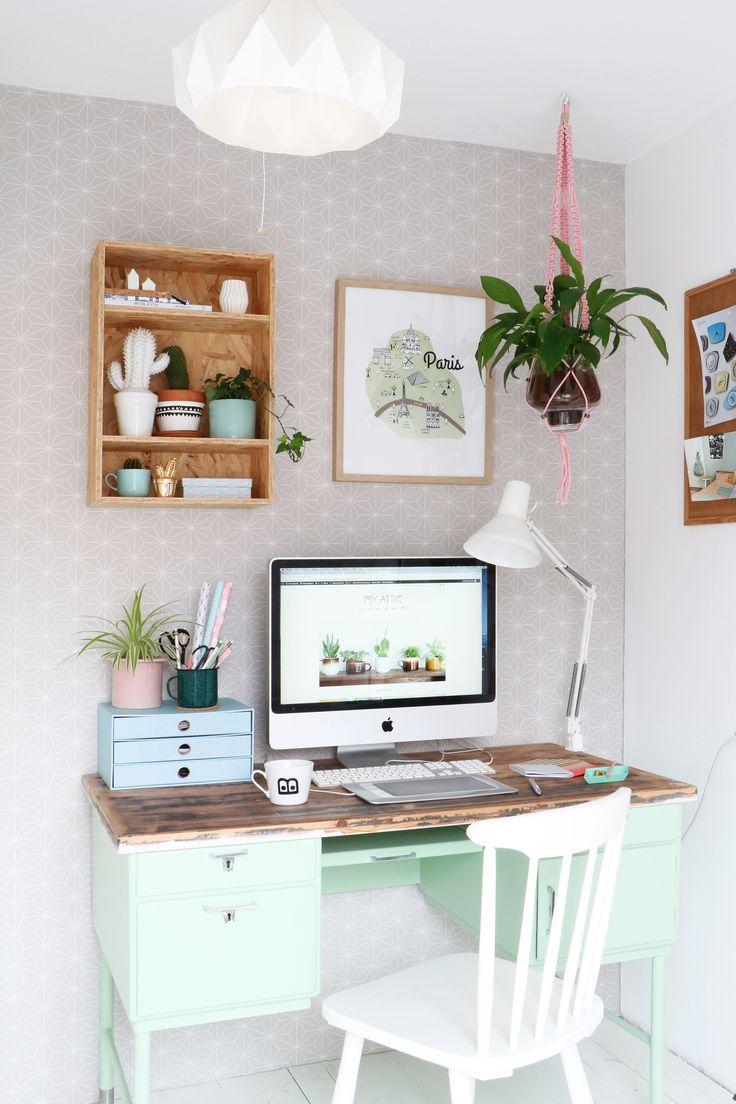 My Attic voor vtwonen / Een groene werkplek / green workspace Fotografie: Marij Hessel