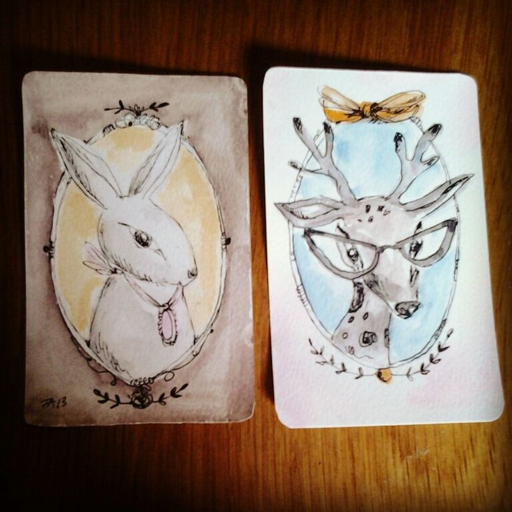 Bunny and deer illustrations