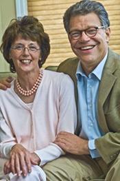 Senator Franken and his wife, Mrs. Al Franken.