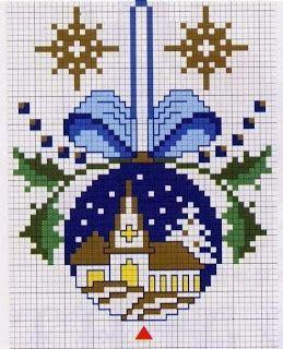 Church bauble cross stitch