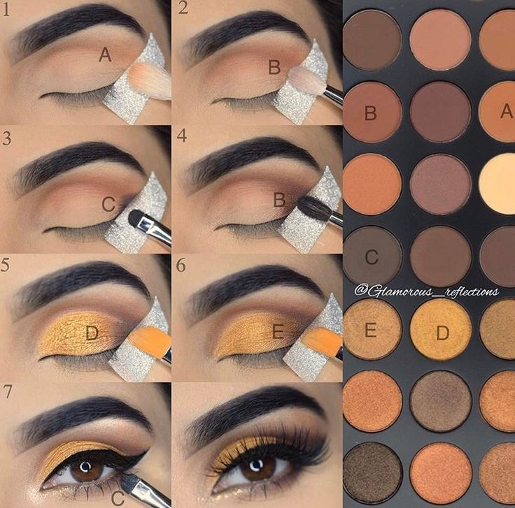 Golden mustard look using morphe 35R by @glamorous_reflactions
