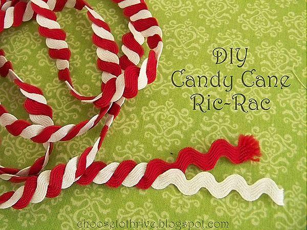 DIY Candy Cane Ric-Rac
