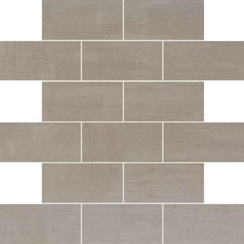 Skybridge Gray 2x4 Brickjoint Mosaic Tile Comes In A