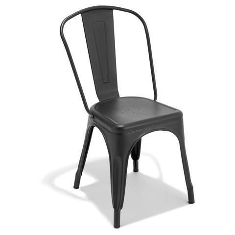Black Metal Stacking Chair $35