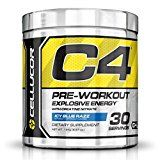 #6: Cellucor C4 Pre Workout Supplements with Creatine Nitric Oxide Beta Alanine and Energy 30 Servings Icy Blue Razz