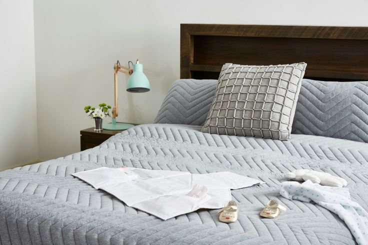Littlins nappy change mat open on bed www.littlins.com