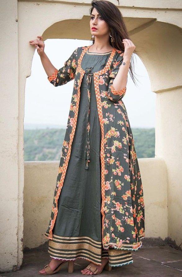 edf4e06b1069ce Beautiful Cotton jacket-kurti with dori-latkan. | Jackets and Blouses | Kurti  designs party wear, Jacket style kurti, Kurti with jacket