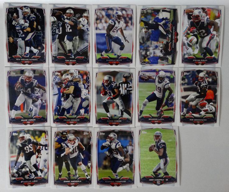2014 Topps New England Patriots Team Set of 14 Football Cards #NewEnglandPatriots