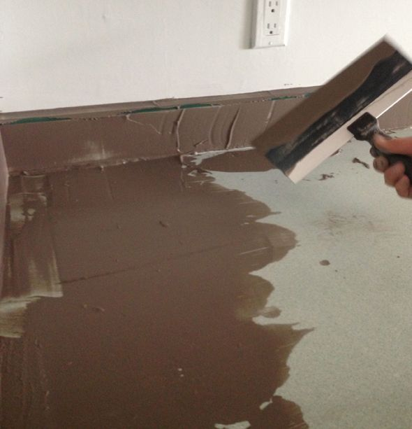 Make old laminate counter tops look like concrete omg.... this will be perfect for us! Inexpensive!