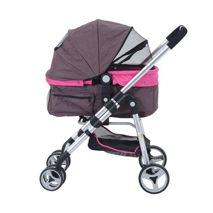 Pawhut Four Wheel Cat/Dog Pet Stroller