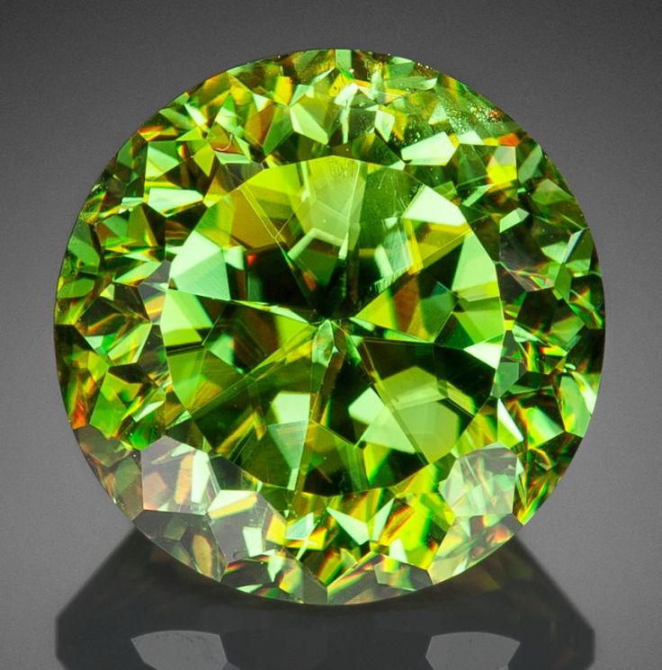 Gems:Faceted, Fine Gemstone: Chrome Sphene - 9.70 Ct ...