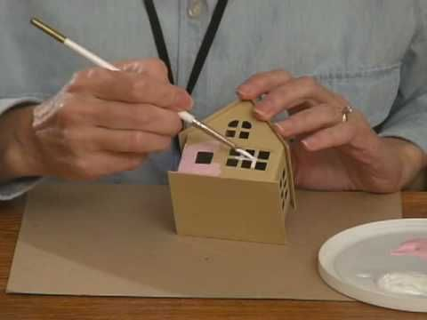 """Making a glitter house- video tutorial- I don't like the """"chunky"""" glitter she used, but it's a great tutorial for the basics- RRM"""