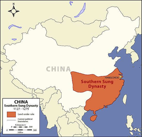 Southern Sung Dynasty Map. Mystery of History Volume 2, Lesson 49 #MOHII49