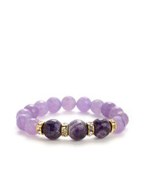 Very Me Amethyst & Purple Jade Stretch Bracelet