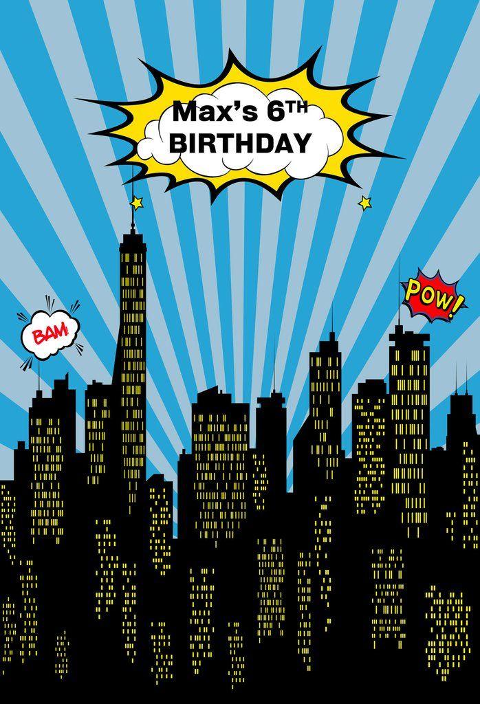 6th Birthday City Nightscape Custom Backdrop U0005 Custom Backdrop Birthday Backdrop 6th Birthday Parties