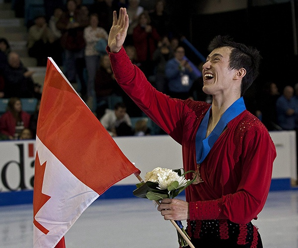 JANUARY 21: TAKE 5 -- The title of Patrick Chan's jazzy short-skate music proved fitting as he soared to his fifth consecutive Canadian men's figure skating title in Moncton. Chan, 21, became the first skater to break the 300-point barrier with his overall score, and would go on to capture his second straight world championship and complete an undefeated season. (Photo by Andrew Vaughan/Canadian Press)