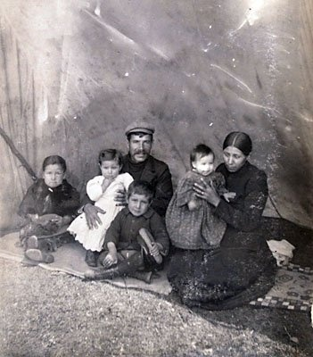 Johnny McEwan (Scottish) and his wife Mary Charlotte Pictou-McEwan (Mi'kmaq) and their family – 1900