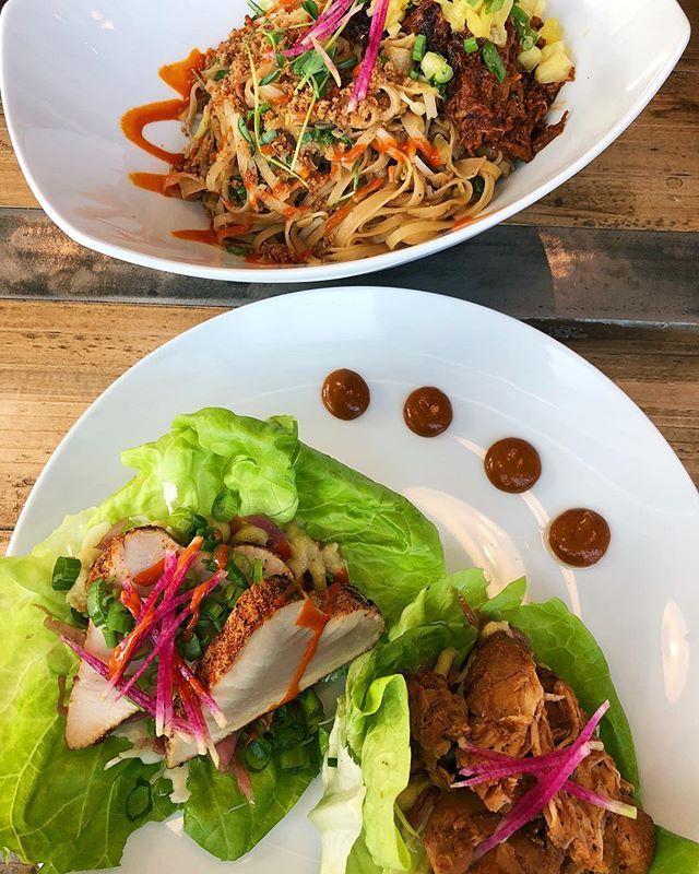 Three Things 1 I Ate At A Latin Asian Fusion Restaurant That Has A Bike Thru Drive Through For Bikes Whi Fusion Restaurant Asian Fusion Meals Without Carbs