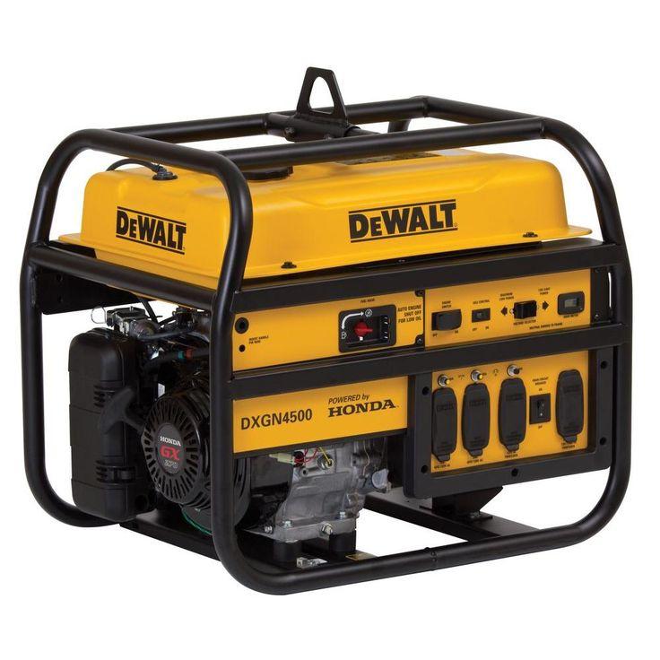 Dewalt 4200watt gasoline powered manual start portable