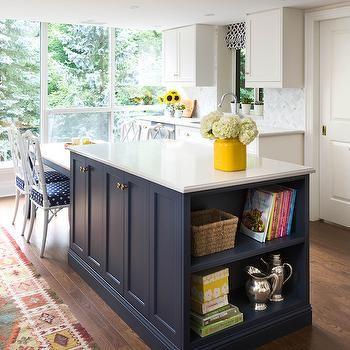 Navy Blue Kitchen Island, kitchen, Rebecca Hay Interior Design