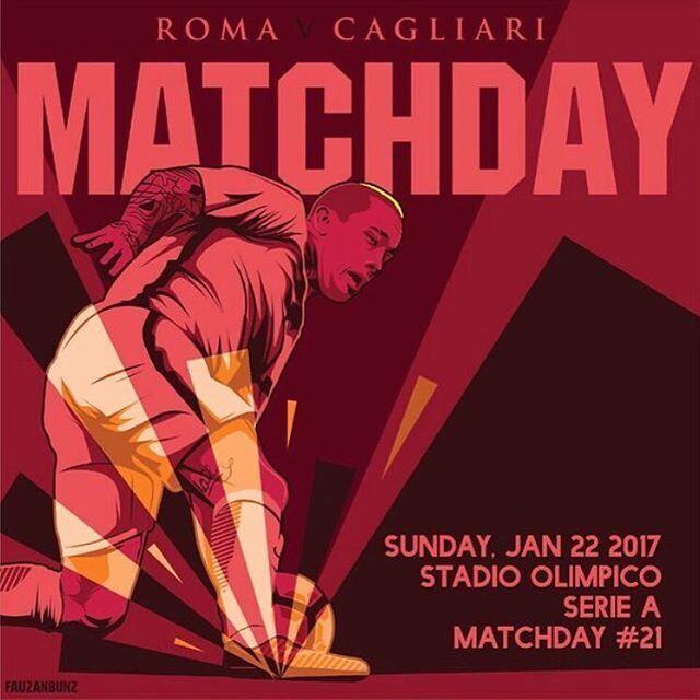 #MatchDay! 🔶🔴 Carichi❓ Qual è il vostro pronostico per #RomaCagliari❓ *** #Roma v #Cagliari is not far off❗️ What is your prediction for the game today❓ *** Follow @asromaeurope on Instagram *** #DajeRoma #ForzaRoma #giallorossi #seriea #calcio #football #italia #nainggolan #graphic #infographic #design #radja #ninja #rn4