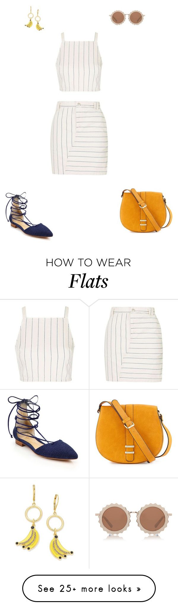 """Summer Linen"" by ila-rose on Polyvore featuring Topshop, Kate Spade, Schutz, House of Holland and Neiman Marcus"