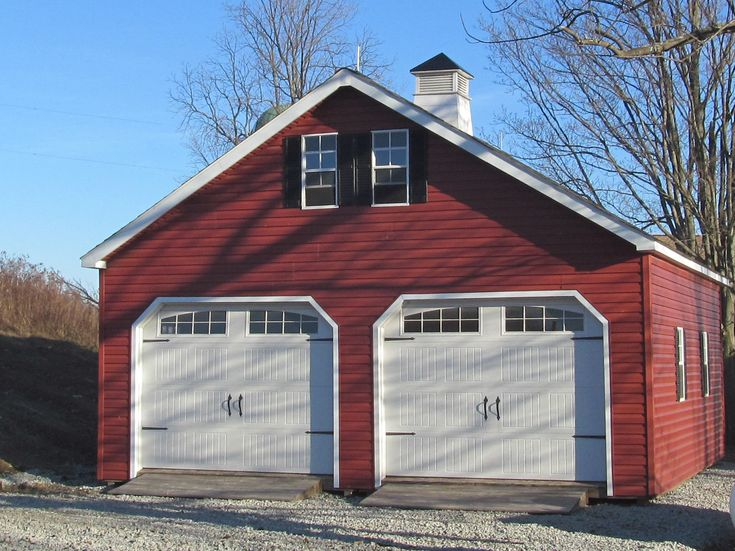 25 best ideas about prefab garages on pinterest prefab for Prefab double garage