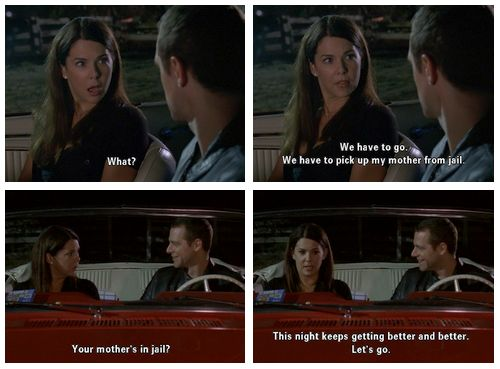 Have I mentioned how much I HATE that Chris and Lorelai get married...