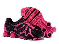 chaussures nike shox turbo+gris femme (noir/rose) pas cher en ligne