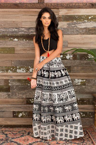 Handblock Skirt
