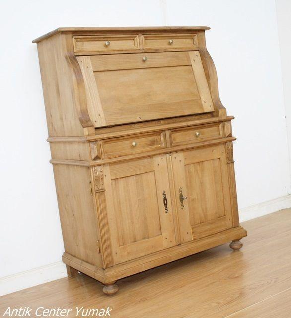 Fabulous Details zu Jugendstil Sekr ter Schreibtisch Schrank Kommode Pult Tisch Schrank Antik
