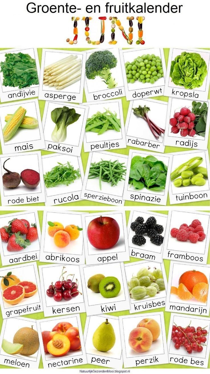 Groente- en fruitkalender juni