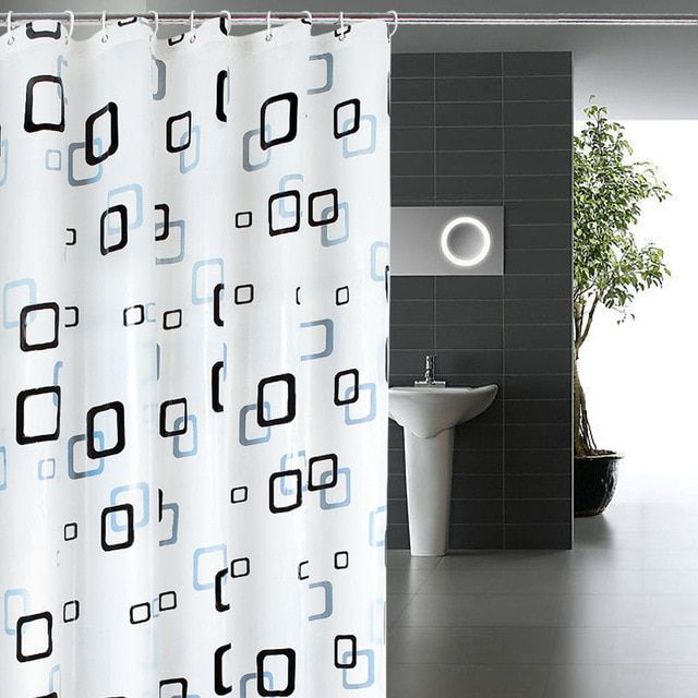 1pcs Peva Shower Curtain Thickening Waterproof And Mould Proof